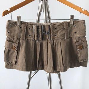 Hollister Brown Cargo Skirt